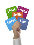κοινωνικές μέσα και έννοια Διαδικτύου Στοκ Εικόνα