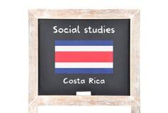 Κοινωνικές μελέτες με τη σημαία εν πλω Στοκ φωτογραφία με δικαίωμα ελεύθερης χρήσης