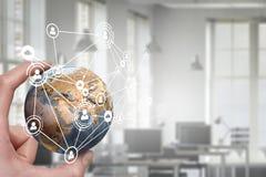 Κοινωνικές σύνδεση και δικτύωση Μικτά μέσα Μικτά μέσα Στοκ Εικόνα