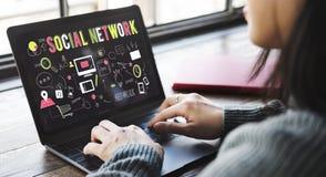 Κοινωνική έννοια Διαδικτύου τεχνολογίας μέσων Διαδικτύου δικτύων Στοκ φωτογραφίες με δικαίωμα ελεύθερης χρήσης