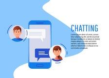 Κοινωνική έννοια δικτύωσης chatting απεικόνιση αποθεμάτων