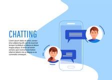 Κοινωνική έννοια δικτύωσης chatting διανυσματική απεικόνιση