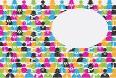 Κοινωνική έννοια δικτύων και επικοινωνίας Στοκ Φωτογραφία
