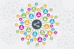 Κοινωνική έννοια δικτύων και επικοινωνίας Στοκ φωτογραφία με δικαίωμα ελεύθερης χρήσης