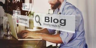 Κοινωνική έννοια δικτύων μέσων αρχικών σελίδων Blogging Blog Στοκ εικόνες με δικαίωμα ελεύθερης χρήσης