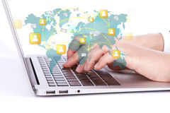 Κοινωνική έννοια δικτύωσης στοκ φωτογραφίες με δικαίωμα ελεύθερης χρήσης