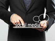 Κοινωνική έννοια μέσων Στοκ Εικόνες