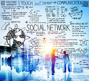 Κοινωνική έννοια πινάκων τεχνολογίας μέσων δικτύων Στοκ Εικόνες