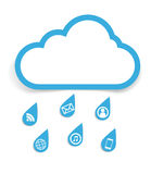 Κοινωνική έννοια σύννεφων μέσων ελεύθερη απεικόνιση δικαιώματος