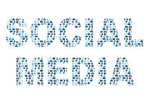 Κοινωνική λέξη μέσων στο σύνολο σχεδίων εικονιδίων Στοκ φωτογραφίες με δικαίωμα ελεύθερης χρήσης