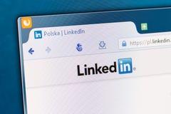 Κοινωνική αρχική σελίδα δικτύων σε μια οθόνη οργάνων ελέγχου Στοκ εικόνες με δικαίωμα ελεύθερης χρήσης
