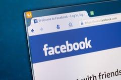 Κοινωνική αρχική σελίδα δικτύων σε μια οθόνη οργάνων ελέγχου Στοκ φωτογραφία με δικαίωμα ελεύθερης χρήσης