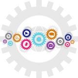 Κοινωνική αλυσίδα ροδών τεχνολογίας και εργαλείων μέσων Στοκ Εικόνα
