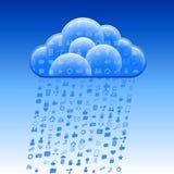 Κοινωνική βροχή σημαδιών σύννεφων Στοκ εικόνα με δικαίωμα ελεύθερης χρήσης