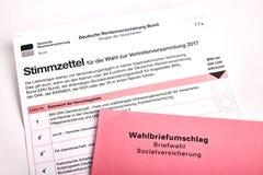Κοινωνική εκλογή στη Γερμανία - Sozialwahl στοκ φωτογραφίες