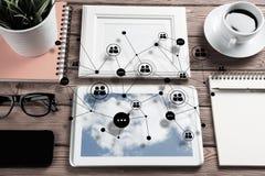 Κοινωνική επικοινωνία και σφαιρική έννοια δικτύωσης στοκ φωτογραφία με δικαίωμα ελεύθερης χρήσης