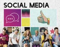 Κοινωνική επικοινωνία συνομιλίας επικοινωνίας Blog μέσων στοκ φωτογραφία με δικαίωμα ελεύθερης χρήσης