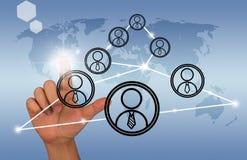 Κοινωνική διεπαφή δικτύων Στοκ Εικόνα