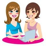 Κοινωνική δικτύωση γυναικών απεικόνιση αποθεμάτων
