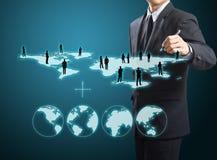 Κοινωνική δομή δικτύων ελεύθερη απεικόνιση δικαιώματος