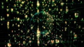Κοινωνική πλεονεξία σύνδεσης ανθρώπων δικτύων Η μεγάλη έννοια στοιχείων, πλημμύρα των ανθρώπων συνδέει στο διαδίκτυο, τρισδιάστατ ελεύθερη απεικόνιση δικαιώματος