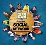 Κοινωνική σε απευθείας σύνδεση έννοια Ιστού Διαδικτύου WWW μέσων δικτύων κοινωνική Στοκ φωτογραφία με δικαίωμα ελεύθερης χρήσης