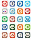 Κοινωνική συλλογή εικονιδίων μέσων Στοκ Εικόνες