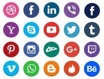 Κοινωνική συλλογή εικονιδίων μέσων ελεύθερη απεικόνιση δικαιώματος
