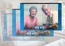 Κοινωνική τηλεοπτική App συνομιλίας διεπαφή Στοκ Εικόνα