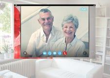 Κοινωνική τηλεοπτική App συνομιλίας διεπαφή Στοκ εικόνες με δικαίωμα ελεύθερης χρήσης