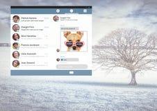 Κοινωνική App αγγελιοφόρων μέσων διεπαφή Στοκ εικόνες με δικαίωμα ελεύθερης χρήσης