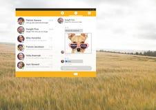 Κοινωνική App αγγελιοφόρων μέσων διεπαφή Στοκ φωτογραφία με δικαίωμα ελεύθερης χρήσης