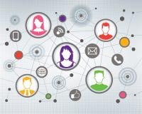 Κοινωνικοί άνθρωποι επικοινωνίας ελεύθερη απεικόνιση δικαιώματος