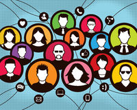 Κοινωνικοί άνθρωποι ομάδας επικοινωνίας απεικόνιση αποθεμάτων