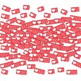 Κοινωνικοί μετρητές μέσων Στοκ Φωτογραφίες