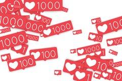 Κοινωνικοί μετρητές μέσων Στοκ εικόνα με δικαίωμα ελεύθερης χρήσης