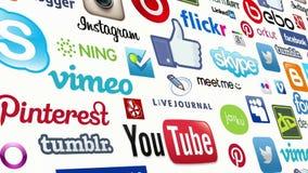 Κοινωνικός άνευ ραφής βρόχος μέσων ελεύθερη απεικόνιση δικαιώματος