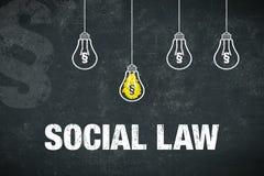Κοινωνικός νόμος εμβλημάτων στοκ εικόνα
