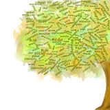 Κοινωνικό δέντρο δικτύων Σύμβολο Blog Επιχειρησιακή ανάπτυξη διανυσματική απεικόνιση