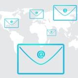 Κοινωνικό δίκτυο επιχειρησιακού ηλεκτρονικού ταχυδρομείου στον κόσμο υποβάθρου Στοκ φωτογραφία με δικαίωμα ελεύθερης χρήσης