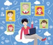 Κοινωνικό δίκτυο (διανυσματική απεικόνιση) Στοκ Εικόνες