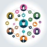 Κοινωνικό δίκτυο ελεύθερη απεικόνιση δικαιώματος