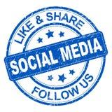Κοινωνικό γραμματόσημο μέσων ελεύθερη απεικόνιση δικαιώματος