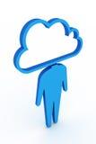 Κοινωνικό δίκτυο σύννεφων Στοκ Εικόνα