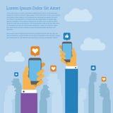 Κοινωνικό κινητό τηλέφωνο δικτύων Στοκ εικόνες με δικαίωμα ελεύθερης χρήσης