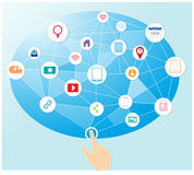 Κοινωνικό μάρκετινγκ μέσων Διαδικτύου Στοκ Εικόνες