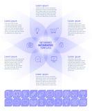 Κοινωνικό πρότυπο Infographic μέσων Στοκ εικόνα με δικαίωμα ελεύθερης χρήσης
