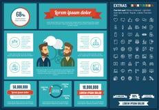 Κοινωνικό πρότυπο Infographic σχεδίου MEDIA επίπεδο Στοκ Φωτογραφία