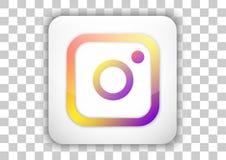Κοινωνικό σχέδιο εικονιδίων μέσων Instagram με το υπόβαθρο κουμπιών κεραμιδιών Στοκ Εικόνες