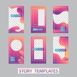 Κοινωνικό σχέδιο ιστοριών δικτύων, κάθετα έμβλημα ή πρότυπα ιπτάμενων Σύνολο minimalistic ιστοριών για τα κοινωνικά μέσα στοκ φωτογραφίες με δικαίωμα ελεύθερης χρήσης